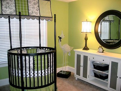 Girls fashionista green nursery