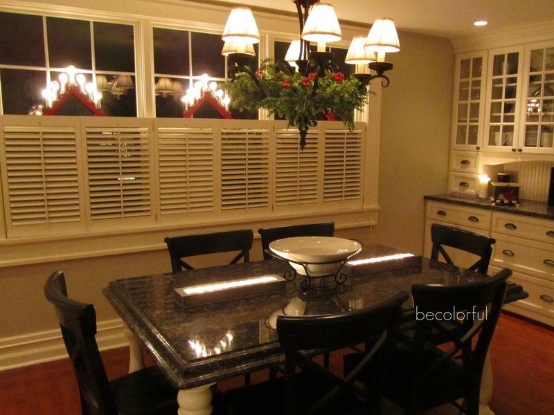 Christmas kitchen full toward table