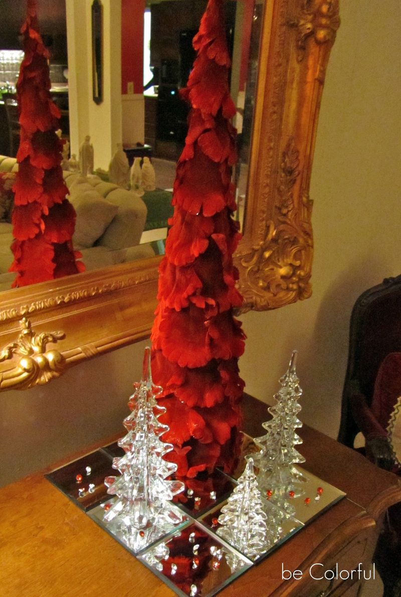 Mom's red table top tree