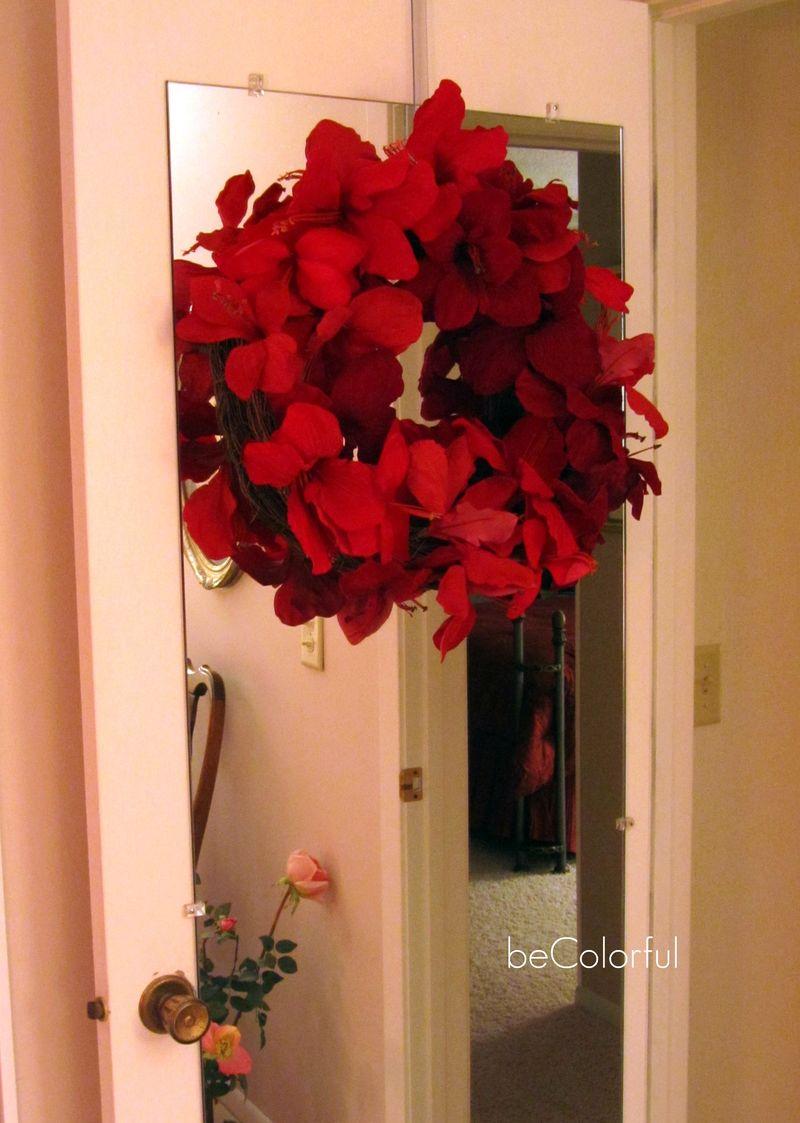 Mom's bedroom door wreath