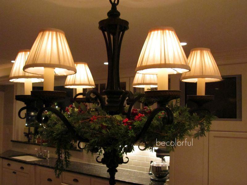 Kitchen chandelier christmas