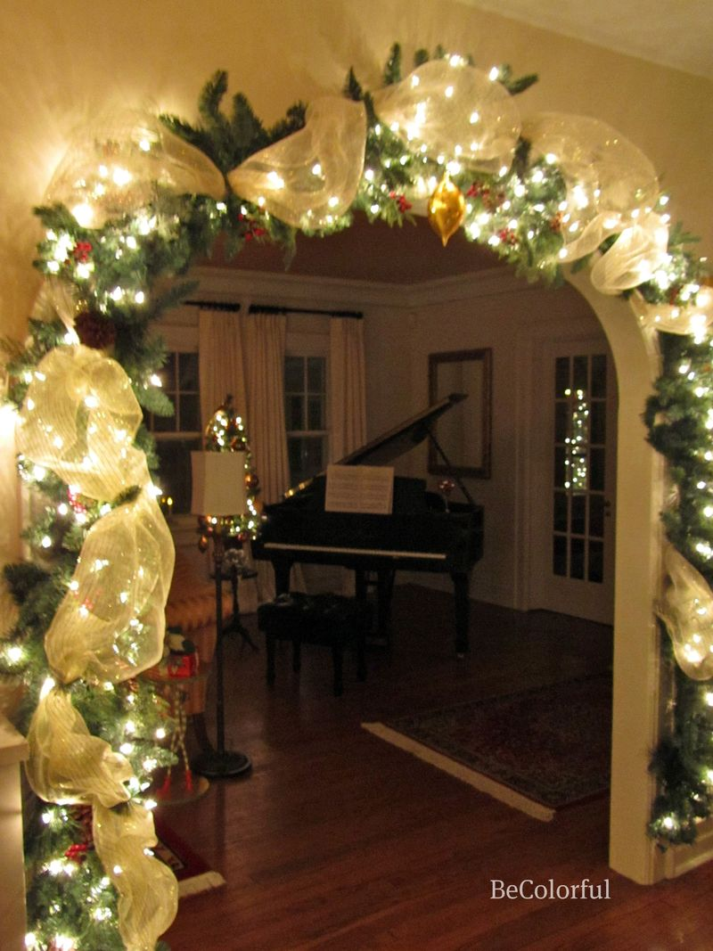 Archway towards piano