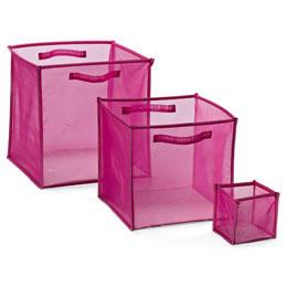 PinkFoldingMeshCubescontainerstorel