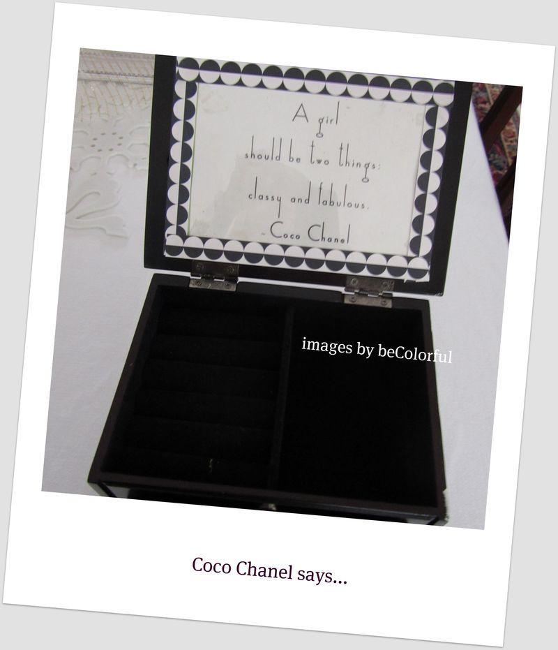 Jewelry box lid