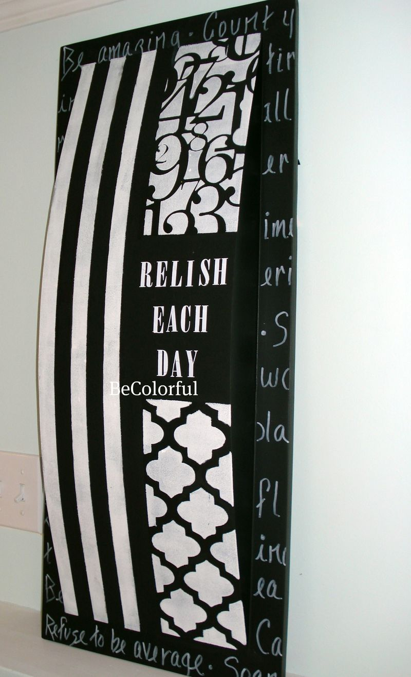 Black and white wall piece