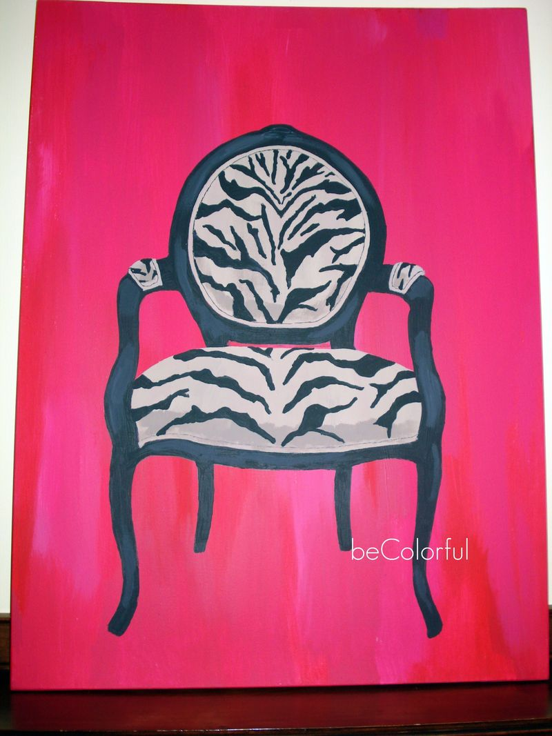 Leopard chair canvas