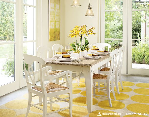 Yellow rug pottery barn