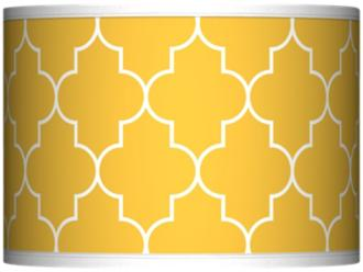 Yellow lampshade from lamps plus