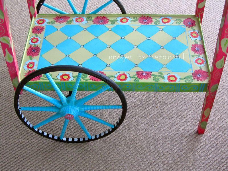 Tea cart bottom shelf