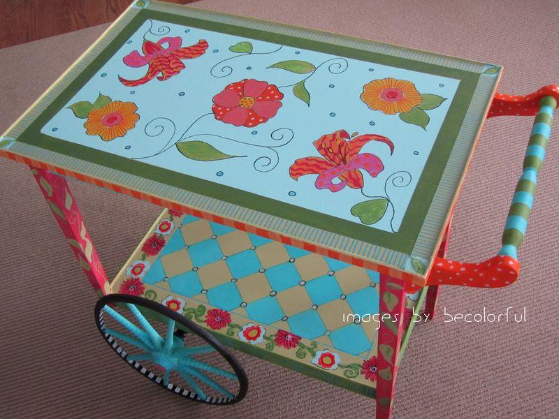Tea cart full on angle
