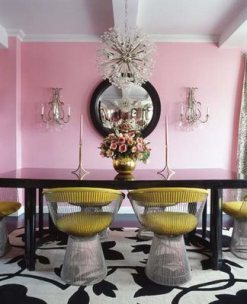 Betsy johnson pink dining room