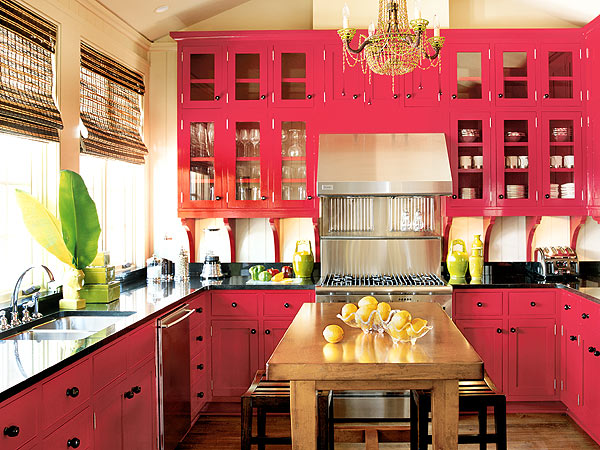 Southern accents red kitchen