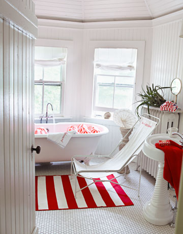 Nice House beautiful red striped rug copy