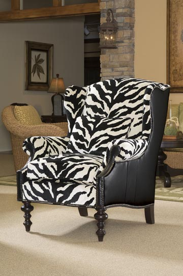 Wing chair zebra luxury ideas