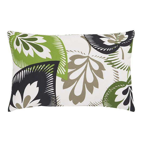 Green pillow crate and barrel