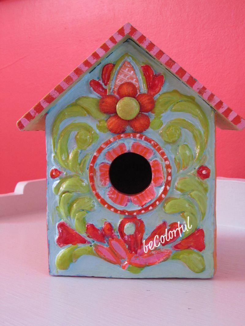 Sue's birdhouse front