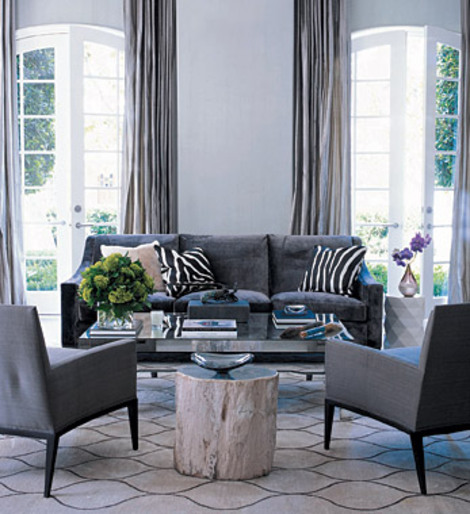 Elle decor gray living room