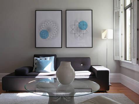 Gray and turquoise decor pad