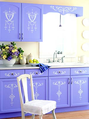 Via arch decorsscandinavian-periwinkle-stenciled-kitchen-bhg