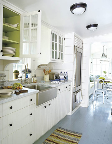Olive green and white cupboards house beautiful