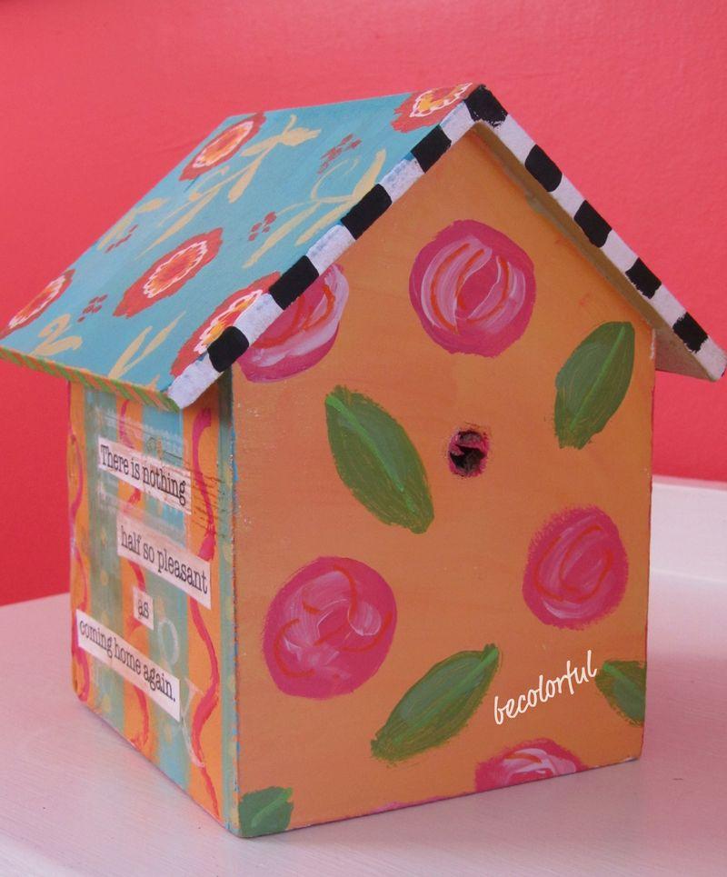 Sue's birdhouse back side