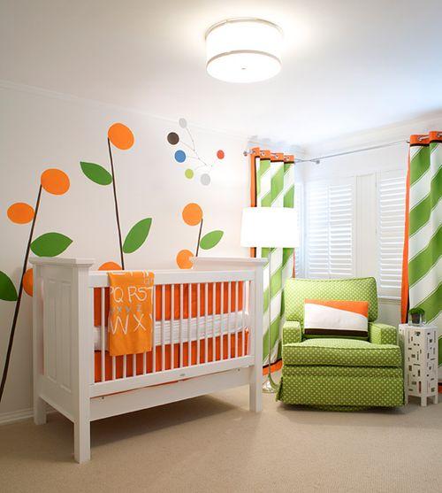 Orange and green Elizabeth Kimberly