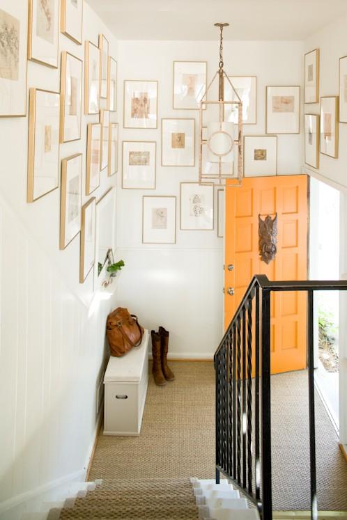 Lauren liess interiors via Houzz orange door