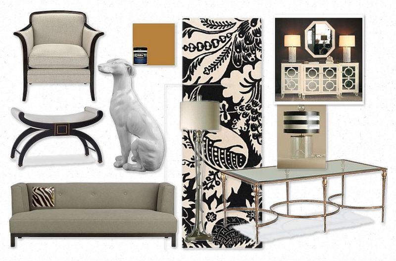 OB-Hollywood Regency Living Room