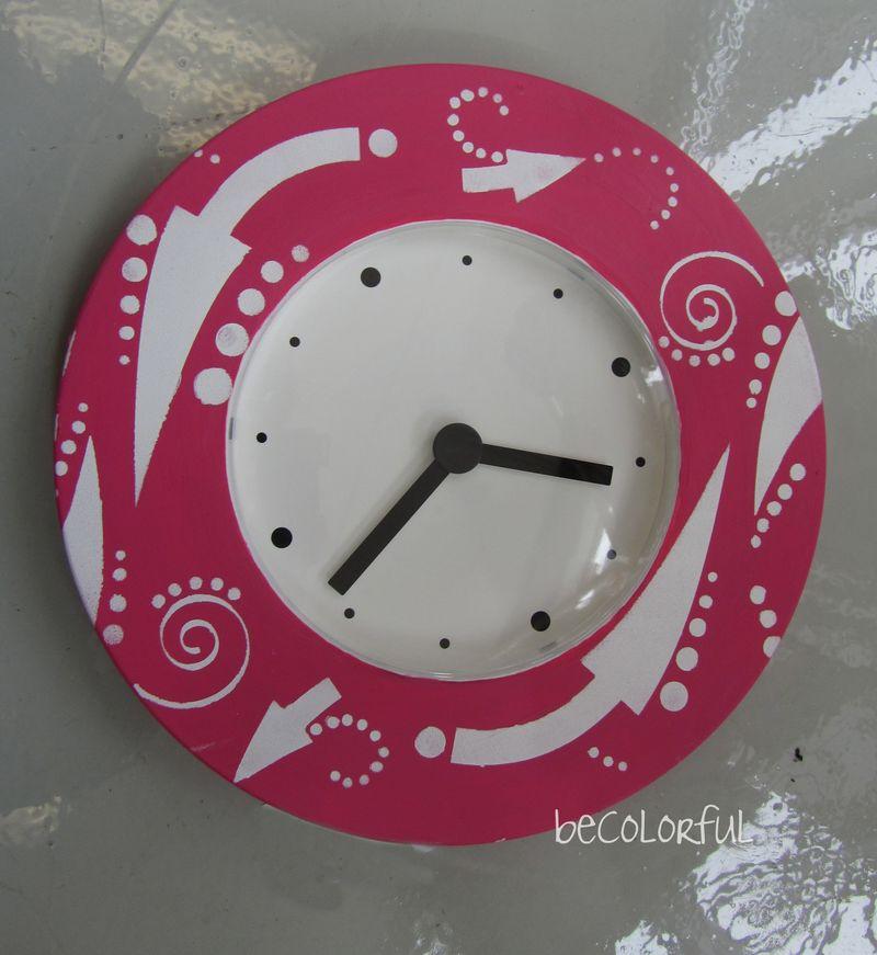 Pink ikea clock