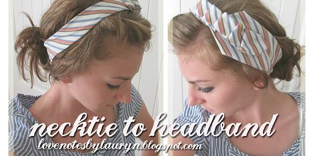 Necktie to headband pic