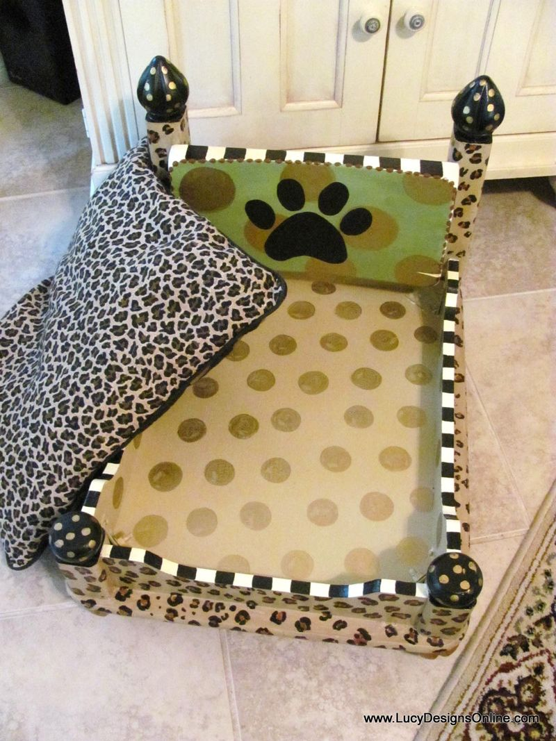 Dog bed -leopard 034