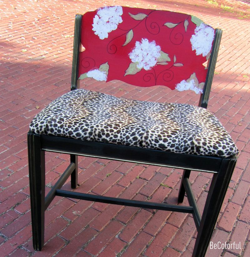 Muriel's vanity chair from front