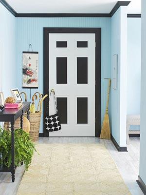 Bhg black and white door