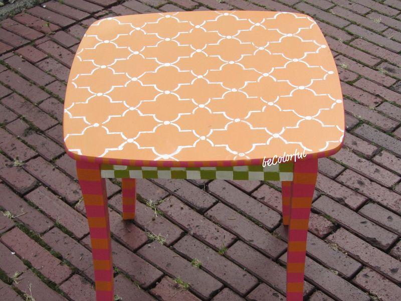 Orange table straight on