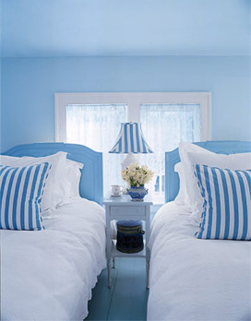 House beautiful blue bedroom