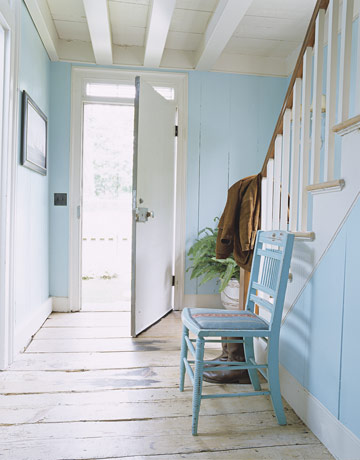Robins egg blue foyer House beautiful copy