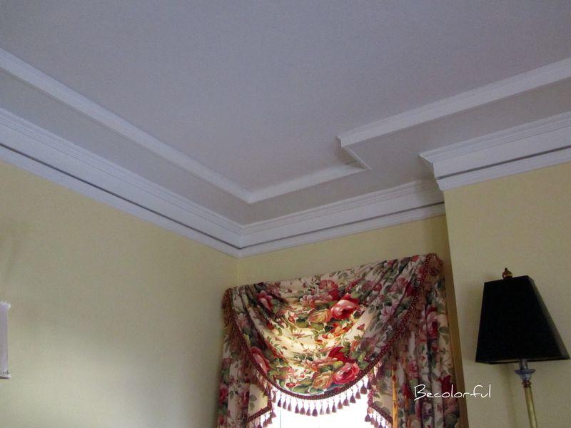 Living room morph ceiling before
