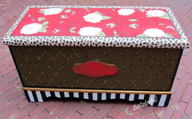 Muriels cedar chest front and top
