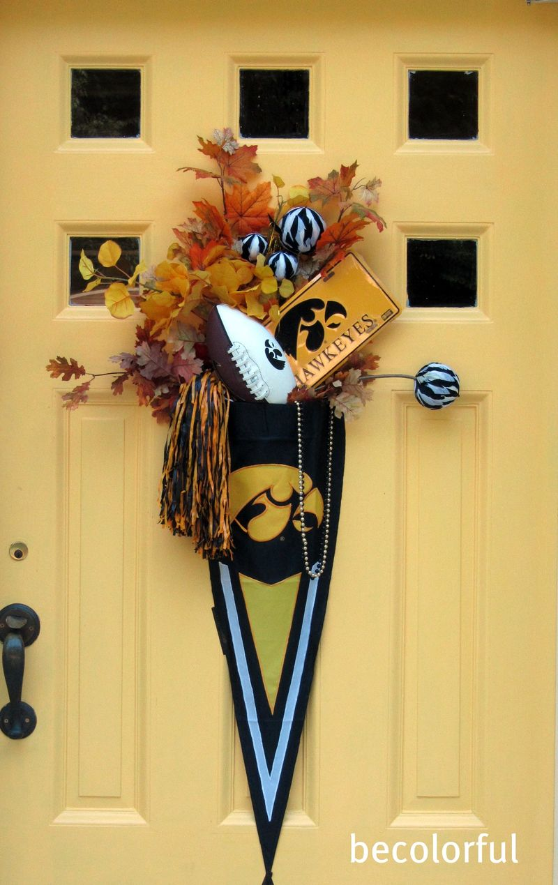 Hawkeye front door close up