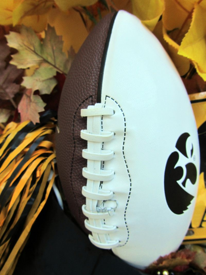 Hawkeye front door football close up