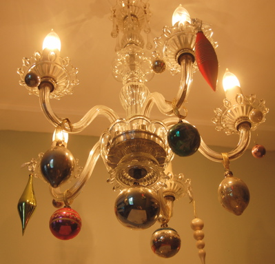 decorating your chandelier for christmas becolorful
