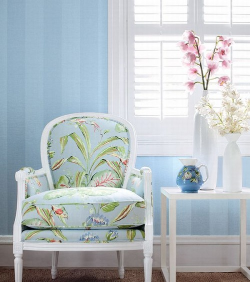 Shelterness.com baby blue chair