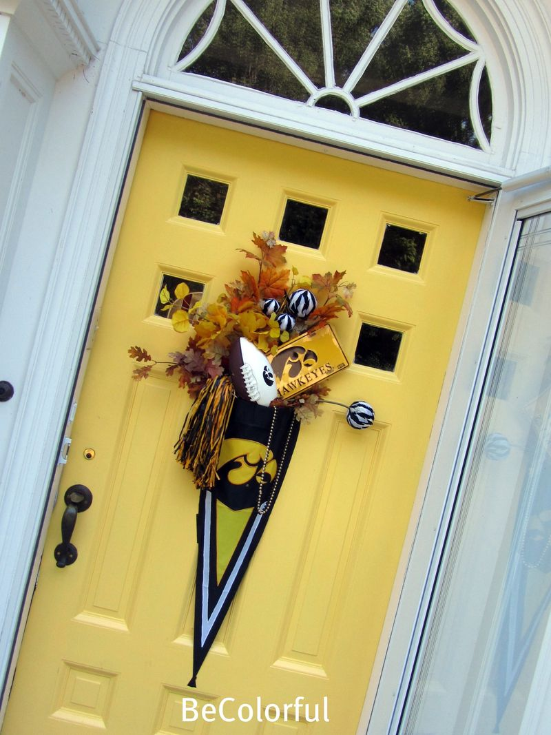 Hawkeye front door on angle