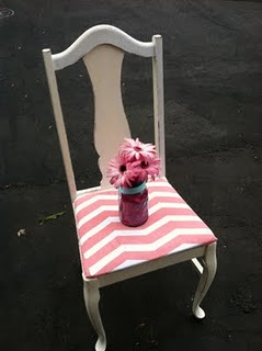 Pink chevron chair