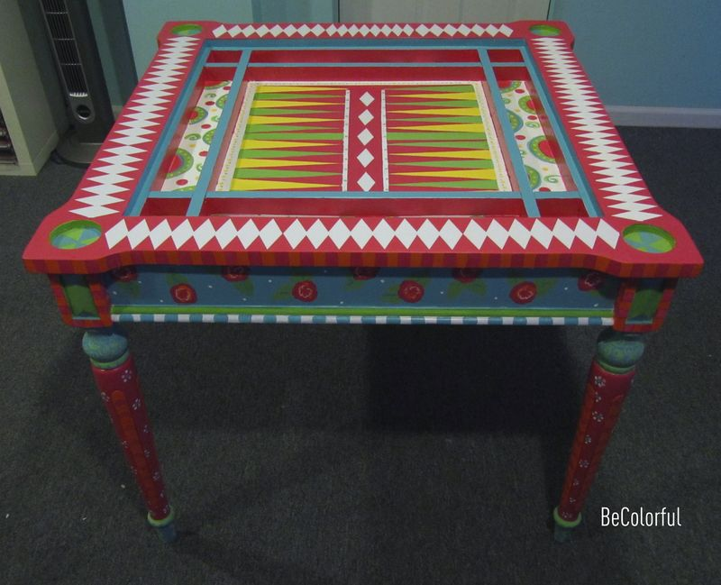 Cindy Hill game table full view without top