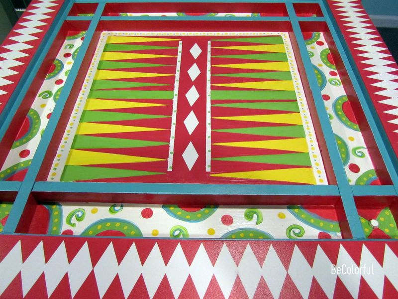 Cindy Hill game table full backgammon view