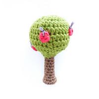 Crocheted tree rattle