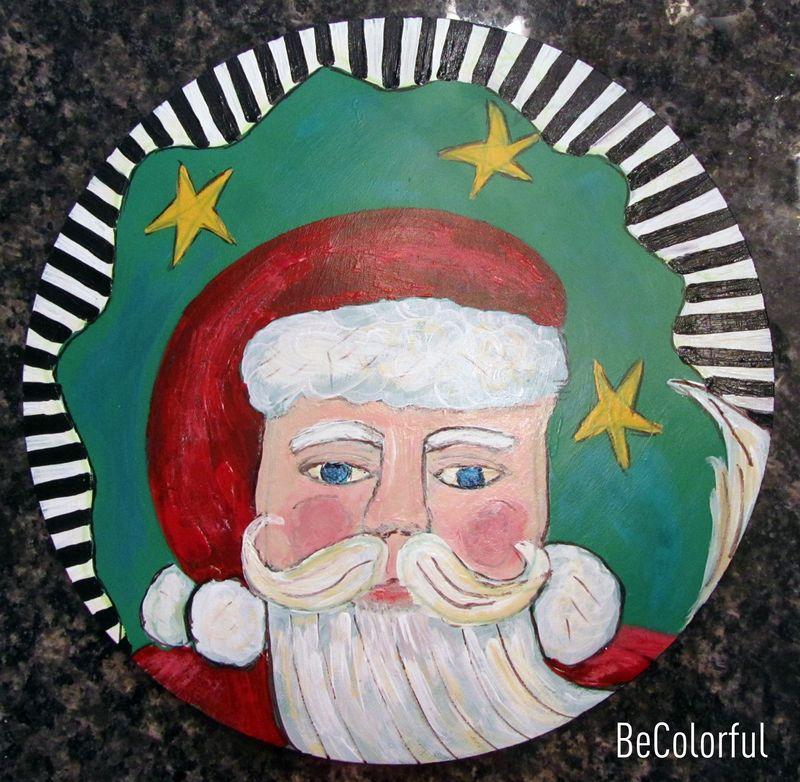 Santa lazy susan 2