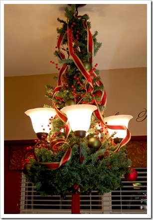 Decorating your chandelier for christmas becolorful via anyone can decorate aloadofball Image collections