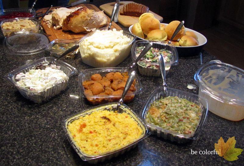 Thanksgiving dinner from pilgrims nov 25 2010
